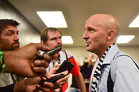 Houston, TX - Sunday Oct. 09, 2016: Paul Riley after the National Women's Soccer League (NWSL) Championship match between the Washington Spirit and the Western New York Flash at BBVA Compass Stadium. The Western New York Flash win 3-2 on penalty kicks after playing to a 2-2 tie.