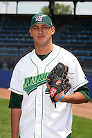 Jamestown Jammers Gabriel Benitez poses for a photo before a NY-Penn League game at Russell Diethrick Park on July 1, 2006 in Jamestown, New York.  (Mike Janes/Four Seam Images)