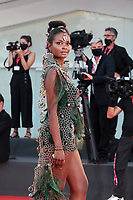 """VENICE, ITALY - SEPTEMBER 10: Yassine Gueye walks the red carpet ahead of the movie """"Nuevo Orden"""" (New Order) at the 77th Venice Film Festival on September 10, 2020 in Venice, Italy. <br /> CAP/MPI/AF<br /> ©AF/MPI/Capital Pictures"""