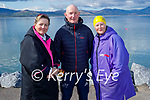 After a swim in Fenit on Sunday morning, l to r: Gill Finucane, Tim Houlihan and Patricia Murray. Patricia is doing a splash a day in May for the Irish Cancer Society.