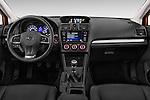 Stock photo of straight dashboard view of 2015 Subaru XV-Crosstrek Premium 5 Door SUV Dashboard
