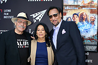 LOS ANGELES - JUN 4:  Edward James Olmos, Wanda DeJesus, Jimmy Smits at the In The Heights Screening -  LALIFF at the TCL Chinese Theater on June 4, 2021 in Los Angeles, CA