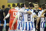 Pescara's Cristian Borruto and Maximiliano Rescia dejected after UEFA Futsal Cup 2015/2016 Semifinal match. April 22,2016. (ALTERPHOTOS/Acero)