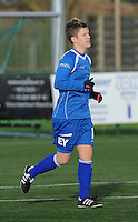 20160116 - ZULTE , BELGIUM : Gent's Annelien Van Gansbeke  pictured during a soccer match between the women teams of ZULTE-WAREGEM and AA GENT B  , during the fifteenth matchday in the First League - Eerste Nationale season, Saturday 16 January 2016 . PHOTO DIRK VUYLSTEKE