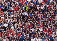 PARIS,  - JUNE 16: Fans watch from the stands during a game between Chile and USWNT at Parc des Princes on June 16, 2019 in Paris, France.