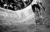 """Jens Vandekinderen (BEL/Telenet-Fidea) racing into """"The Pit""""<br /> <br /> GP Zonhoven 2014"""