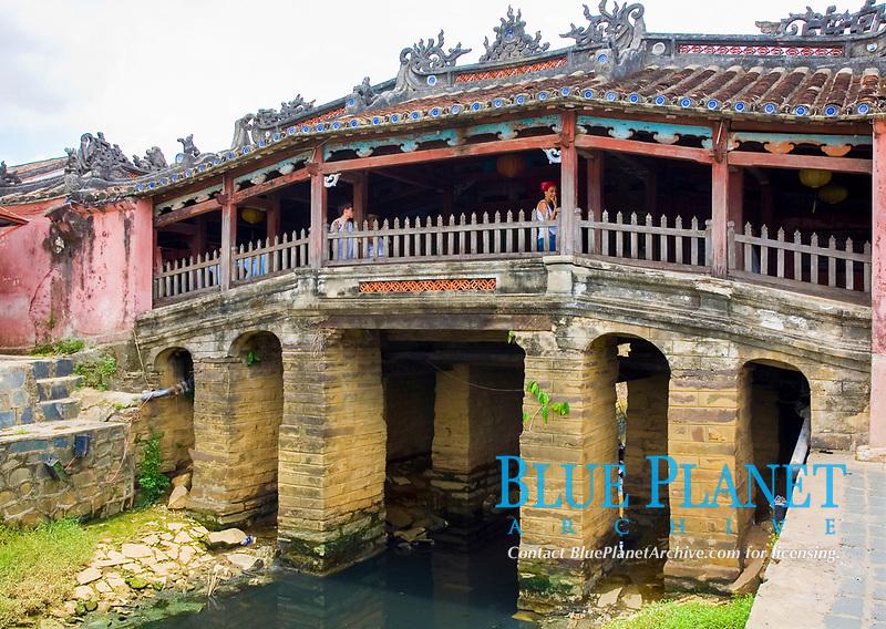 Japanese bridge. Hoi An, Vietnam, Asia.