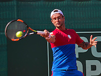 Netherlands, The Hague, Juli 21, 2015, Tennis,  Sport1 Open, Adrian Ungur (ROU)<br /> Photo: Tennisimages/Henk Koster