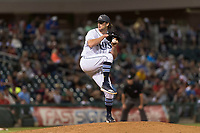 AFL West relief pitcher Matt Krook (16), of the Peoria Javelinas and Tampa Bay Rays organization, gets ready to deliver a pitch during the Arizona Fall League Fall Stars game at Surprise Stadium on November 3, 2018 in Surprise, Arizona. The AFL West defeated the AFL East 7-6 . (Zachary Lucy/Four Seam Images)