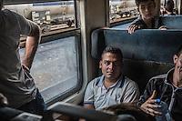 interno di un treno di migranti interior of a train of migrants giugno 2015