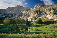 Peaks at the head of Lamoille Canyon<br />    from Dollar Lakes,  Ruby Mountains<br /> Humboldt National Forest<br /> Great Basin,  Nevada