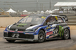 2018 World Rallycross racers in action during the World Rallycross of USA race at the Circuit of the Americas race track in Austin,Texas.