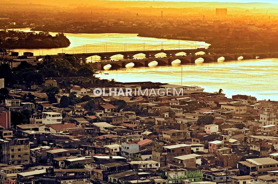 Aerea do Rio Pina na cidade do Recife. Pernambuco. 2011. Foto de Sergio Amaral.