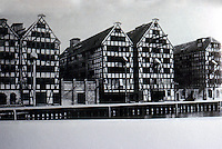Germany: Fachwerk--Danzig Warehouses. Baltic Medieval Functionalism. Reference only.