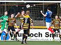 Cowdenbeath's Calum Gallagher (11) scores their third goal.