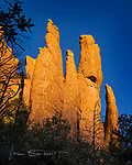 Day's End along The Hailstone Trail ©2017 James D Peterson.  On a clear autumn day, the sunset light on the western face of the Chiricahuas is something to behold.  Especially when it is illuminating otherworldly rock formations like these, found in Chiricahua National Monument.