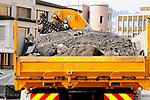 Construction work, Baustelle, Pflastersteine, Arbeit, Arbeiter, Bauarbeiter, Vaduz, Liechtenstein
