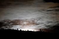 MEDELLIN - COLOMBIA, 07-04-2020:  Luna llena asomandose por el oriente de Medellín, Colombia. <br /> / Full moon raises over the east of Medellin, Colombia. Photo: VizzorImage/ León Monsalve / Cont