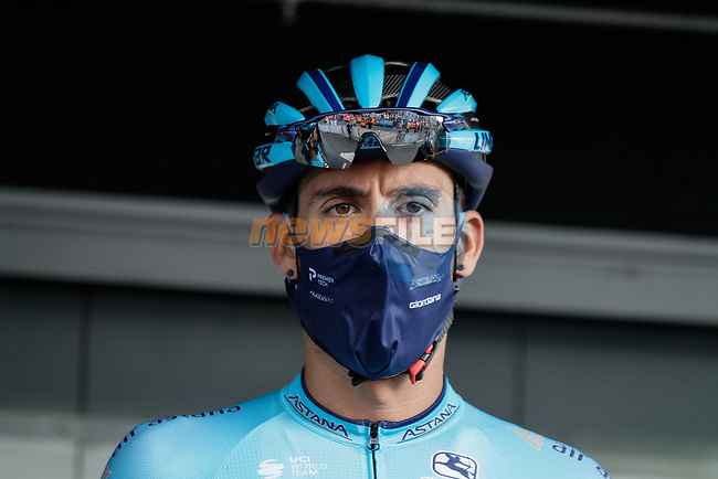 Omar Fraile (ESP) Astana Pro Team at sign on before Stage 3 of the Route d'Occitanie 2020, running 163.5km from Saint-Gaudens to Col de Beyrède, France. 3rd August 2020. <br /> Picture: Colin Flockton   Cyclefile<br /> <br /> All photos usage must carry mandatory copyright credit (© Cyclefile   Colin Flockton)
