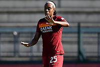 Allyson Swaby of AS Roma reacts during the women Serie A football match between AS Roma and ACF Fiorentina at Tre Fontane Stadium in Roma (Italy), November 7th, 2020. Photo Andrea Staccioli / Insidefoto