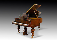 BNPS.co.uk (01202) 558833<br /> Pic: Dreweatts/BNPS<br /> <br /> Pictured: A grand piano by eminent German piano maker Julius Ferdinand Blüthner (1824-1910) has an estimate of £8,000<br /> <br /> A remarkable collection of rare pianos belonging to the Queen's personal restorer and conservator has emerged for sale for £250,000.<br /> <br /> David Winston is parting with 26 pianos he has amassed over the past 30 years dating from the 18th century to the present day.<br /> <br /> Mr Winston, who was awarded the Royal Warrant in 2012, is regarded as one of the foremost experts in his field and has restored pianos owned and played by Beethoven, Chopin and Liszt.<br /> <br /> His collection includes a 1925 Pleyel grand piano fitted with an original 'Auto Pleyela' self-playing mechanism in a spectacular Chinoiserie Louis XV case valued at 60,000.