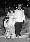 """GINA LOLLOBRIGIDA CON YVES PIAGET  - PARTY A """"LA VIGIE""""  MONTECARLO 1980"""
