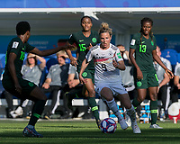 GRENOBLE, FRANCE - JUNE 22: Svenja Huth #9 dribbles at midfield during a game between Nigeria and Germany at Stade des Alpes on June 22, 2019 in Grenoble, France.