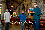 The Stations of the Cross at St John's Church will be held on line this year due to Covid and will be going live on Good Friday. Front right: Paddy Daly. Back l to r: Kathleen Houlihan and Bridie Courtney.