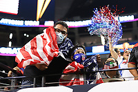 LAS VEGAS, NV - AUGUST 1: USA fans after a game between Mexico and USMNT at Allegiant Stadium on August 1, 2021 in Las Vegas, Nevada.