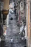 A retro view of urban Valletta in Malta