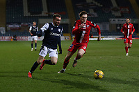 27th March 2021; Dens Park, Dundee, Scotland; Scottish Championship Football, Dundee FC versus Dunfermline; Paul McMullan of Dundee goes past Josh Edwards of Dunfermline Athletic
