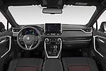 Stock photo of straight dashboard view of 2021 Suzuki Across GLX 5 Door SUV Dashboard