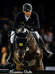 Marco Kutscher of Germany rides Cornet's Cristallo in action at the Longines Grand Prix during the Longines Hong Kong Masters 2015 at the AsiaWorld Expo on 15 February 2015 in Hong Kong, China. Photo by Juan Flor / Power Sport Images