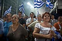 Elezioni Grecia: manifestazione Nea Democratia