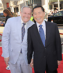 George Takai and husband at Universal Pictures' World Premiere of Larry Crowne held at The Grauman's Chinese Theatre in Hollywood, California on June 27,2011                                                                               © 2011 Hollywood Press Agency