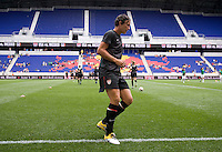 Abby Wambach. The USWNT defeated Mexico, 1-0, during the game at Red Bull Arena in Harrison, NJ.