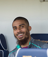 Aston Villa Lewis Grabban before the Sky Bet Championship match between Millwall and Aston Villa at The Den, London, England on 6 May 2018. Photo by Andrew Aleksiejczuk / PRiME Media Images.