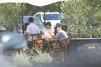 Zoe Lister-Jones Has Lunch With A friend In Hollywood