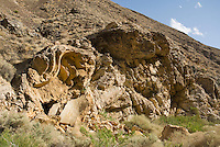 Folded rock strata, Wildrose Canyon, Death Valley National Park, California