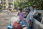 A man goes out to have a drink of sattu (flour of grounded pulses) during a 21 days lockdown in the country for corona virus pandemic. Kolkata, West Bengal, India. Arindam Mukherjee