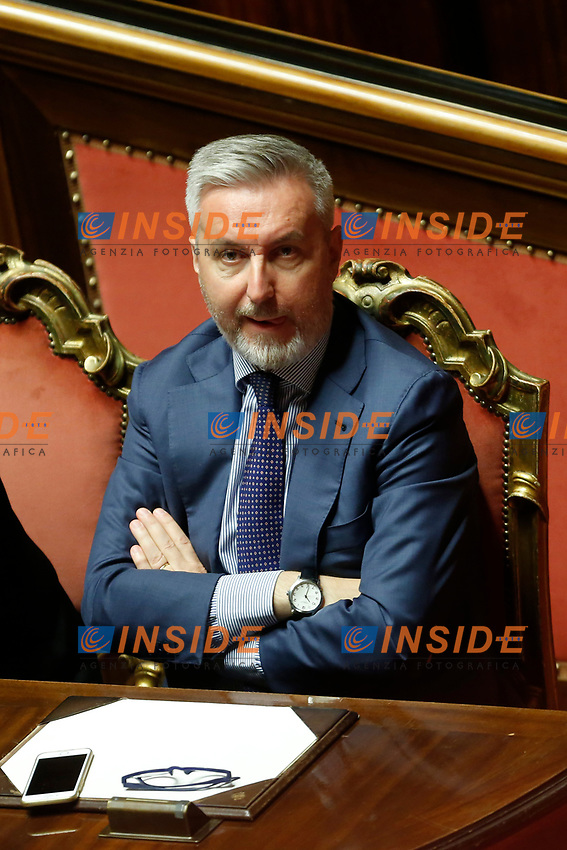 Giuseppe Guerini<br /> Rome September 10th 2019. Senate. Discussion and Trust vote at the new Government. <br /> Foto  Samantha Zucchi Insidefoto