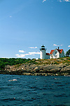 View of Curtis Island Lighthouse, Camden, Maine, USA