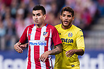 Angel Correa of Atletico de Madrid (L) and Jonathan Dos Santos of Villarreal CF (R) during the La Liga match between Atletico de Madrid vs Villarreal CF at the Estadio Vicente Calderon on 25 April 2017 in Madrid, Spain. Photo by Diego Gonzalez Souto / Power Sport Images