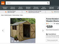 BNPS.co.uk (01202) 558833. <br /> Pic: B&Q<br /> <br /> Pictured: A similar sized shed selling for £559 on the B&Q website. <br /> <br /> A beach hut that looks more like a garden shed you could buy from B&Q for £500 has gone the market - for almost £60,000.<br /> <br /> At 7ft by 8ft the timber cabin is about the same size as most garden sheds, but its idyllic location makes it far more valuable.<br /> <br /> Hut 128 is on Friars Cliff Beach in Christchurch, Dorset.<br /> <br /> The dilapidated hut is about 30 years old and in need of replacing. It doesn't have any fixtures or fittings and is just an empty shell.