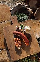 Europe/France/Languedoc-Roussillon/66/Pyrénées-Orientales/Env de Palau-de-Cerdagne: Charcuterie de Cerdagne - Soubressade (pate de farce de porc au poivron rouge à tartiner)