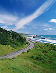 Highway 101 and the Southern Oregon coast from Cape Sebastian at Pistol River State Park, looking south to Crook Point.