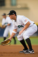 First baseman Logan Morrison (24) of the Jupiter Hammerheads on defense at Roger Dean Stadium in Jupiter, FL, Wednesday July 16, 2008. (Photo by Brian Westerholt / Four Seam Images)