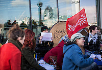 """26.02.2014 - """"Homes Not Jails! Sleeping rough is not a crime!"""" - Demo outside City Hall"""