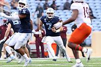 CHAPEL HILL, NC - OCTOBER 10: Sam Howell #7 of North Carolina runs the ball during a game between Virginia Tech and North Carolina at Kenan Memorial Stadium on October 10, 2020 in Chapel Hill, North Carolina.