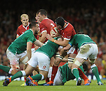 Wales Adam Beard is tackled by Ireland's James Ryan<br /> <br /> Photographer Ian Cook/CameraSport<br /> <br /> 2019 Under Armour Summer Series - Wales v Ireland - Saturday 31st August 2019 - Principality Stadium - Cardifff<br /> <br /> World Copyright © 2019 CameraSport. All rights reserved. 43 Linden Ave. Countesthorpe. Leicester. England. LE8 5PG - Tel: +44 (0) 116 277 4147 - admin@camerasport.com - www.camerasport.com